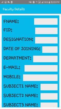 DEPARTMENT TIME TABLE GENERATOR APP screenshot 4