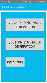 DEPARTMENT TIME TABLE GENERATOR APP screenshot 5