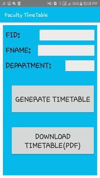 DEPARTMENT TIME TABLE GENERATOR APP screenshot 6
