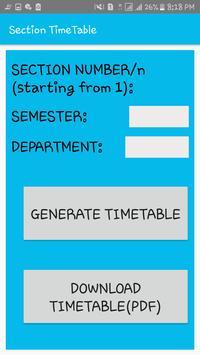 DEPARTMENT TIME TABLE GENERATOR APP screenshot 7