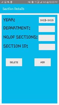 DEPARTMENT TIME TABLE GENERATOR APP screenshot 1