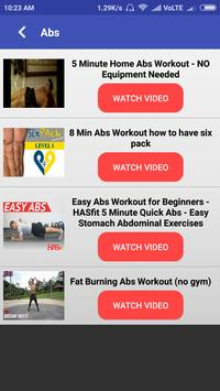 Home Workouts screenshot 2