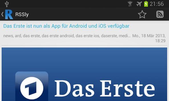 RSSly - Dein RSS-Reader apk screenshot