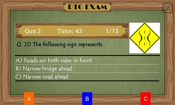 RTO Driving Licence Test ENG screenshot 3