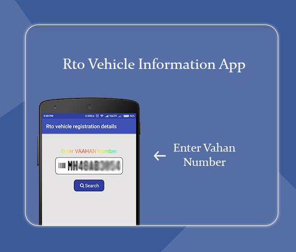 Free Vehicle Registration Details: Rto vaahan info poster