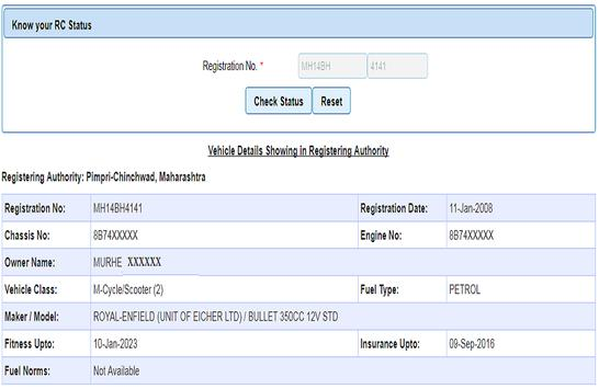 Vehicle Registration information and Owner details screenshot 3