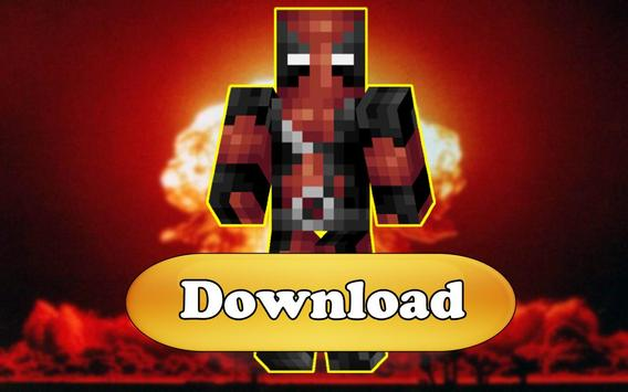 Skins Deadpool for Minecraft poster