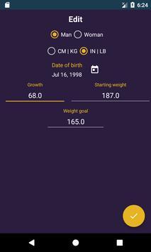 Ideal Weight, BMI screenshot 2