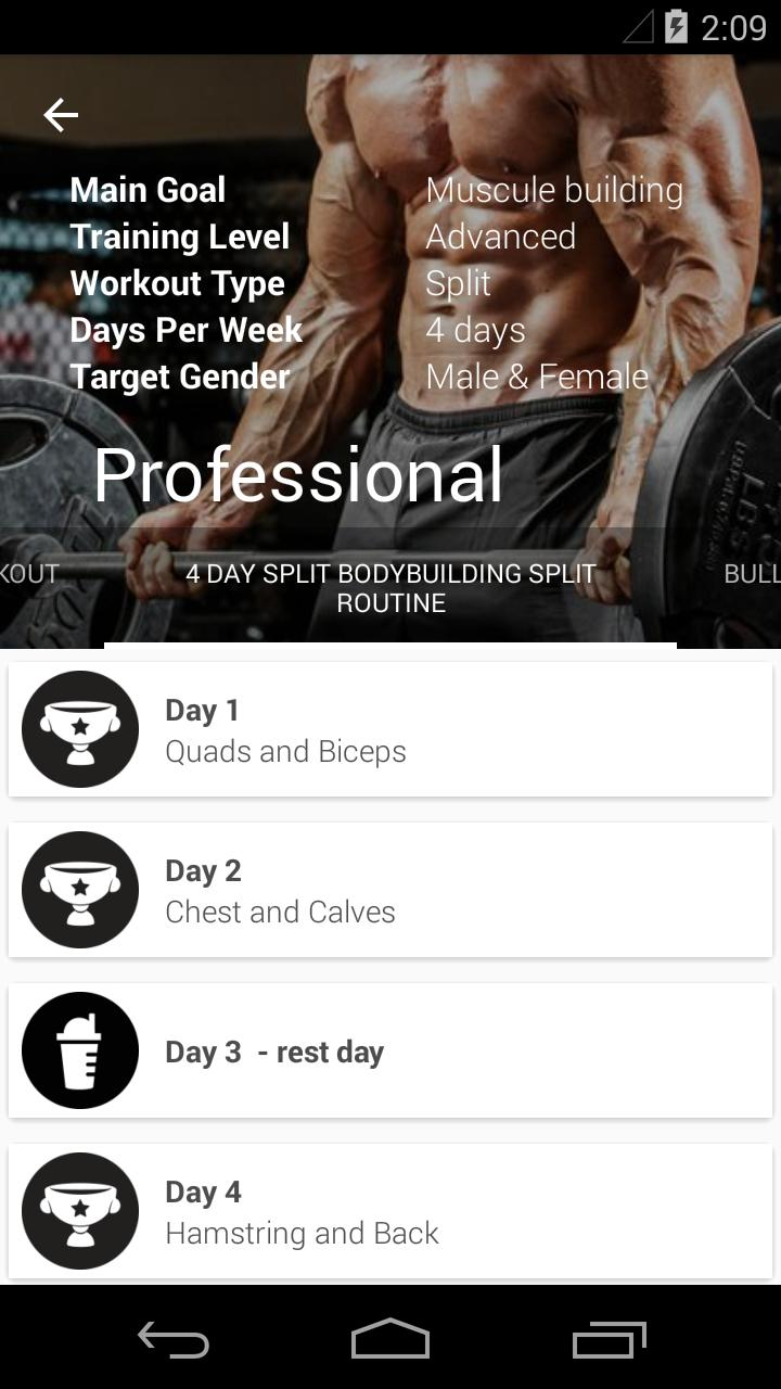 Gym App Workout Log & tracker for Fitness training for Android - APK
