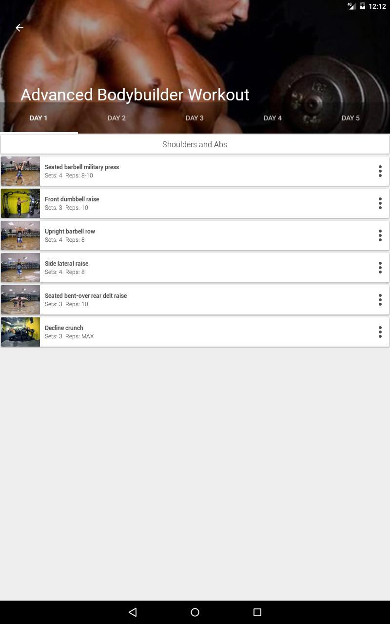 Gym App Workout Log & tracker for Fitness training for