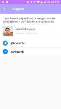 Controlio: simple status report system apk screenshot