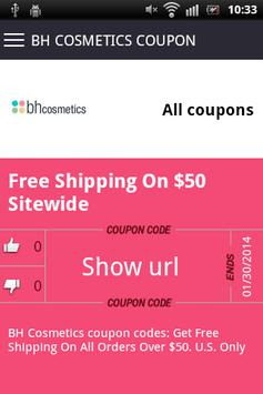 Beauty coupons apk screenshot