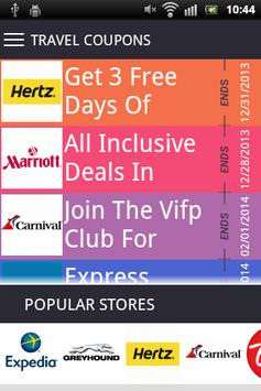 Travel coupons poster