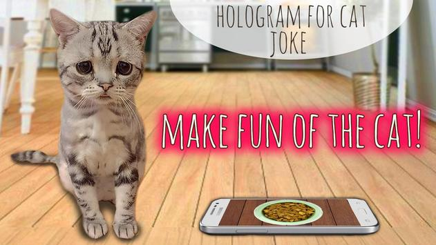 Hologram for cat joke poster