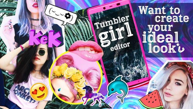 Tumbler girl editor poster