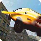 Flying Sport Car Drive 3D icon