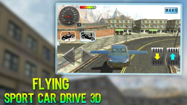 Flying Sport Car Drive 3D poster