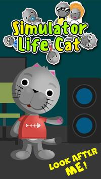 Simulator Life Cat poster