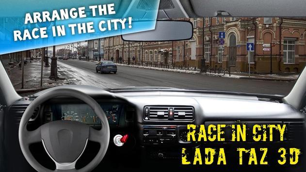 Race In City LADA TAZ 3D poster