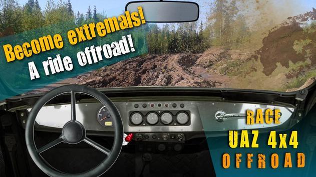 Race UAZ 4x4 Offroad poster