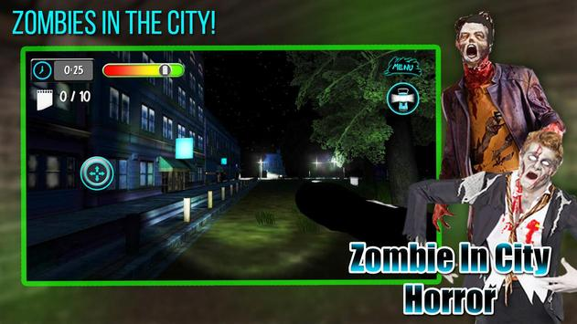 Zombie In City Horror poster