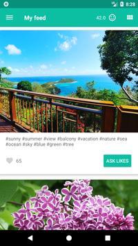 LikeMe - free followers and likes! apk screenshot