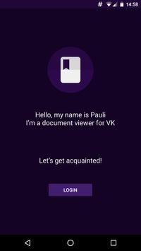 Pauli - document viewer for VK poster