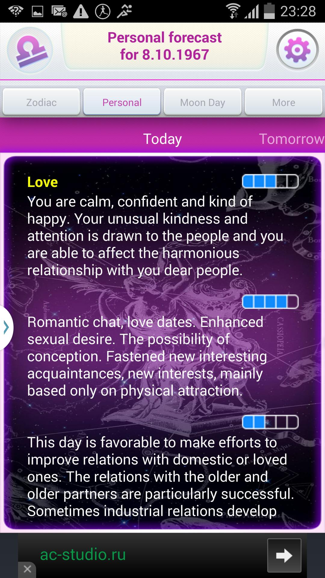 Personal horoscope Galleleo for Android - APK Download