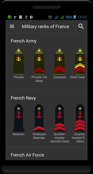 Poster Military ranks of France