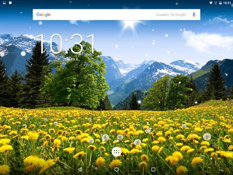 Spring Dandelion Live Wallpaper FREE apk screenshot