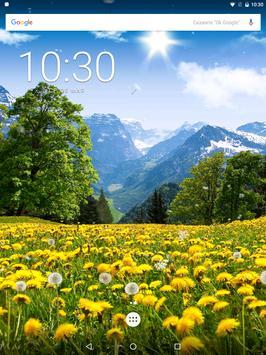 Dandelions Flowers True 3D Live Wallpaper FREE LWP apk screenshot