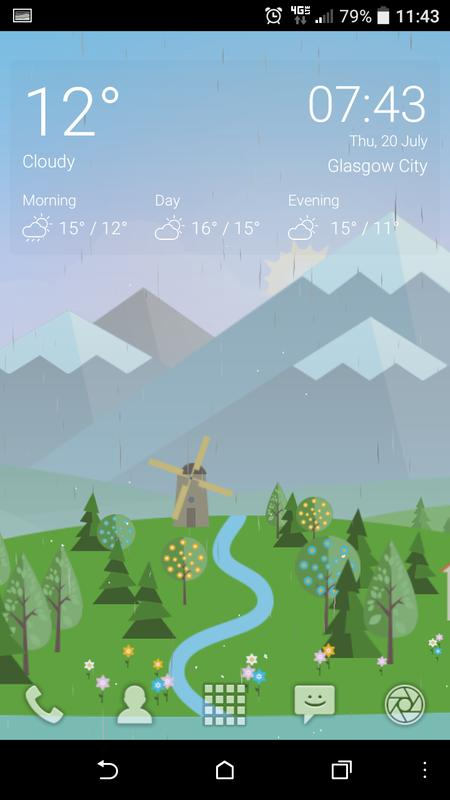 ... Animated Landscape Weather Live Wallpaper FREE screenshot 2 ...