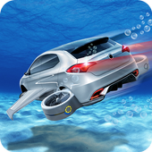 Floating Underwater Car Free icon