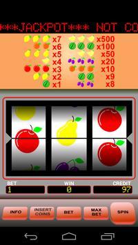 Fruits slots poster