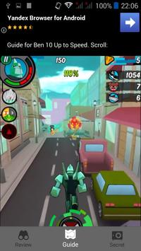 Guide for Ben 10 Up to Speed apk screenshot