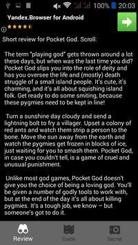 Guide for Pocket God poster