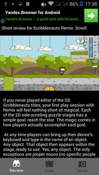 Guide for Scribblenauts Remix poster