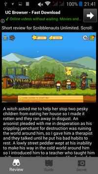 Guide for Scribblenauts Unlimited poster