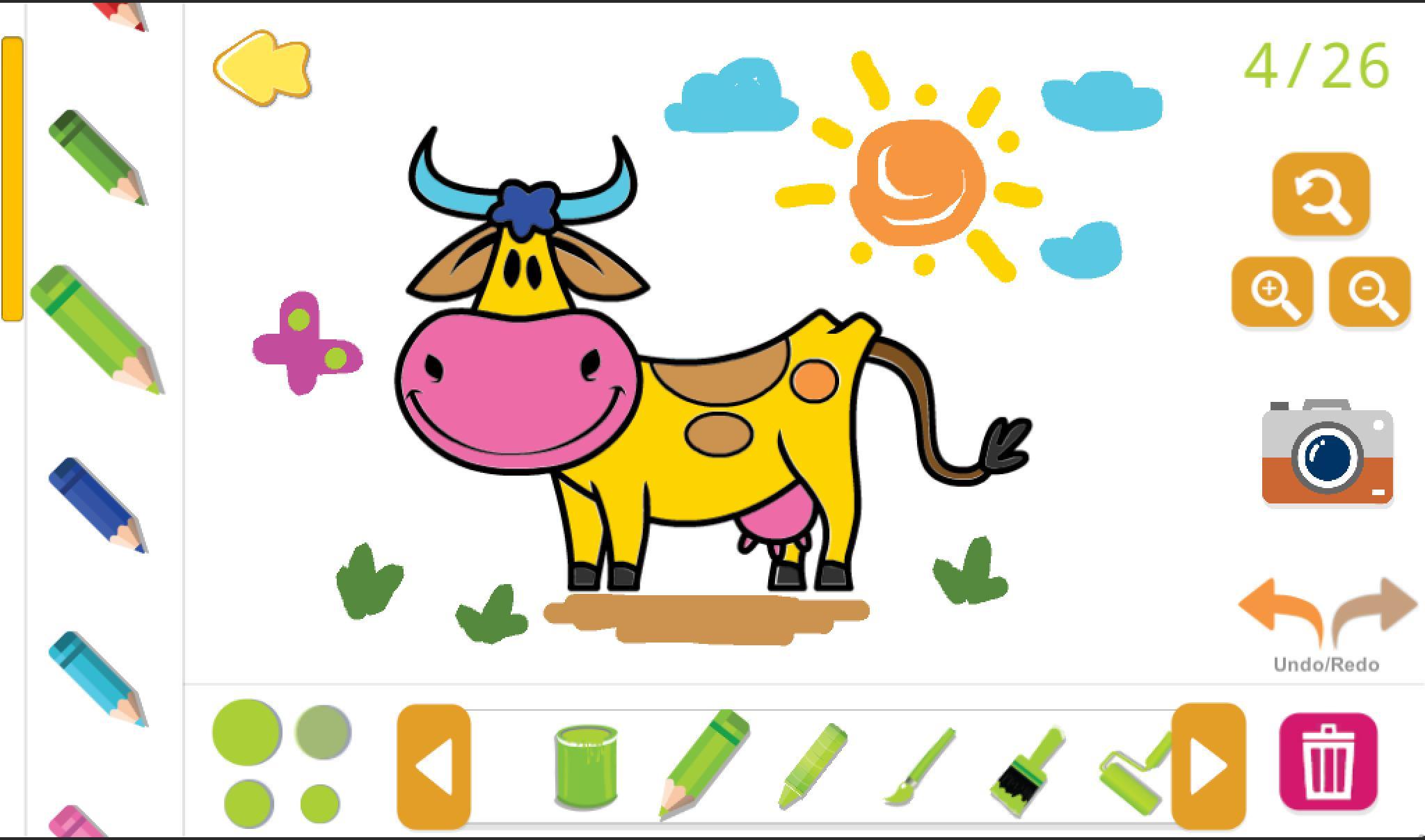 Раскраски и звуки для детей. Животные и птицы для Андроид ...