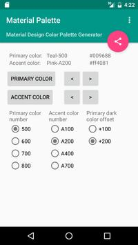 Material Palette screenshot 2