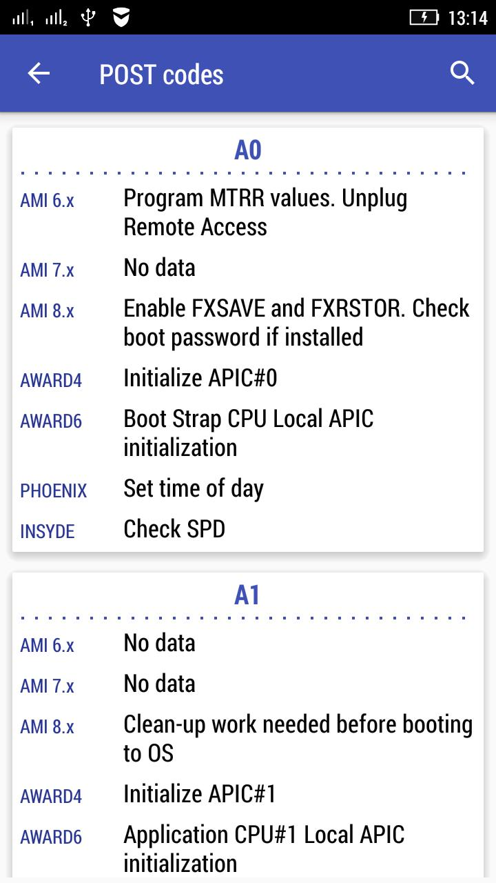 BIOS POST Codes for Android - APK Download