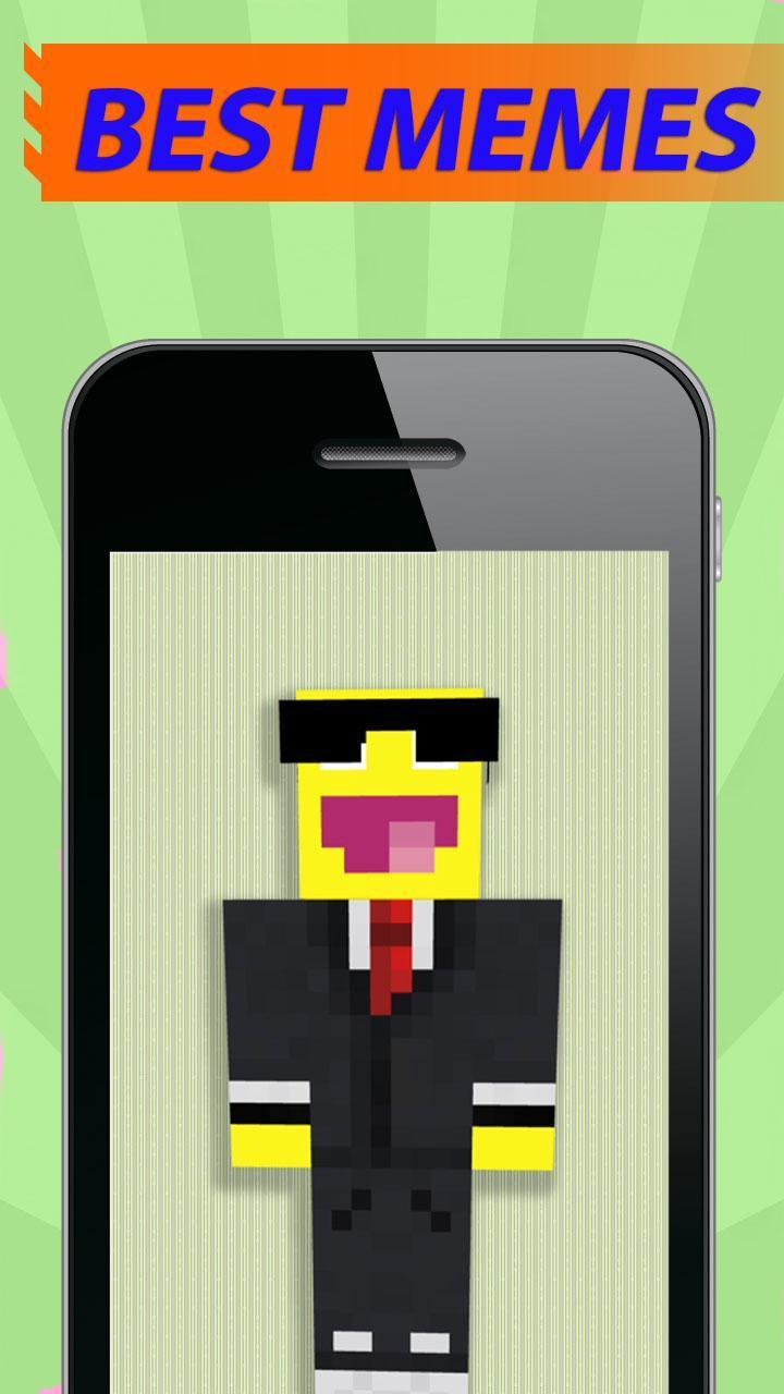 Funny meme skins for Minecraft para Android - APK Baixar