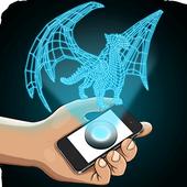 Hologram Dragon 3D Simulator icon