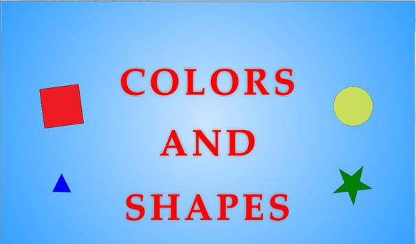 Colors and shapes for children poster