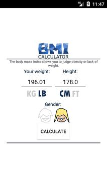 Poster BMI calculator