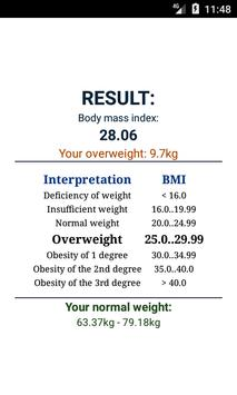 BMI calculator ảnh chụp màn hình 2