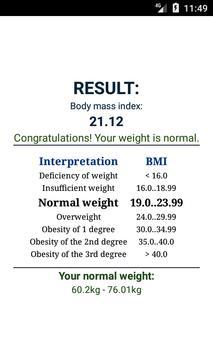 BMI calculator ảnh chụp màn hình 3