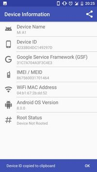 Device Info (Device ID, IMEI, MAC, Root, GSF) screenshot 1