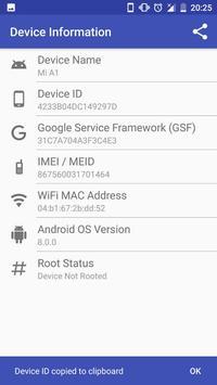 Device Info (Device ID, IMEI, MAC, Root, GSF) screenshot 3