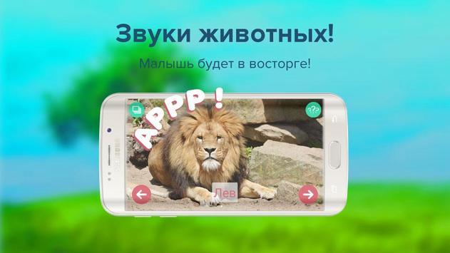 Карточки с животными учим screenshot 2